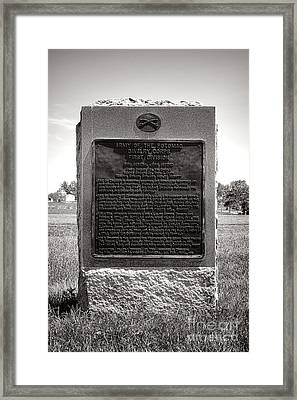 Gettysburg National Park Army Of The Potomac Cavalry Corps Monument Framed Print