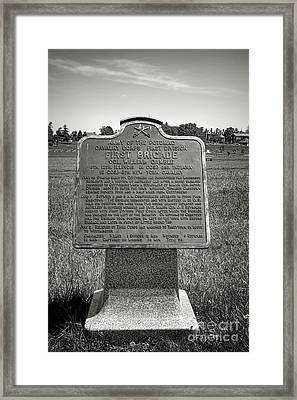 Gettysburg National Park Army Of The Potomac First Brigade Monument Framed Print by Olivier Le Queinec