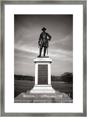 Gettysburg National Park Brigadier General Alexander Webb Monument Framed Print by Olivier Le Queinec