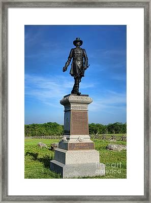 Gettysburg National Park John Gibbon Memorial Framed Print