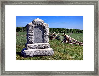 Gettysburg National Park Third West Virginia Cavalry Memorial Framed Print by Olivier Le Queinec