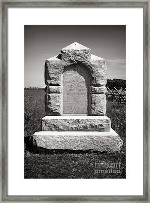 Gettysburg National Park Third West Virginia Cavalry Monument Framed Print by Olivier Le Queinec