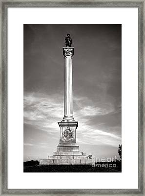 Gettysburg National Park Vermont Stannard Brigade Monument Framed Print by Olivier Le Queinec