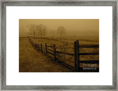 Gettysburg Framed Print by Nicola Fiscarelli