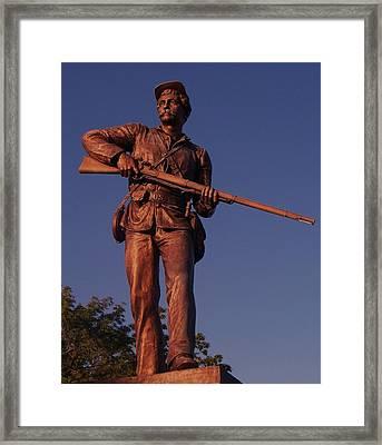 Gettysburg Statue Framed Print by Eric  Schiabor