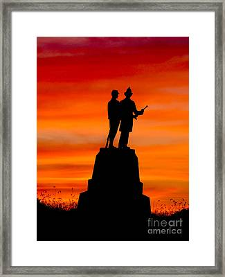 Gettysburg Sunset Framed Print by Teresa A and Preston S Cole Photography