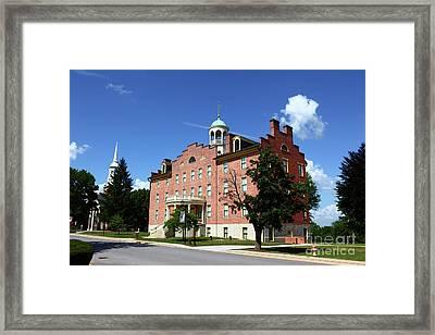 Gettysburg Theological Seminary Schmucker Hall Framed Print by James Brunker
