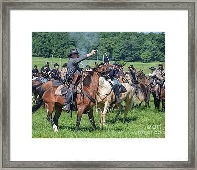 Gettysburg  Union Cavalry 7920c  Framed Print