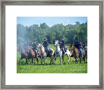 Gettysburg  Union Cavalry Framed Print