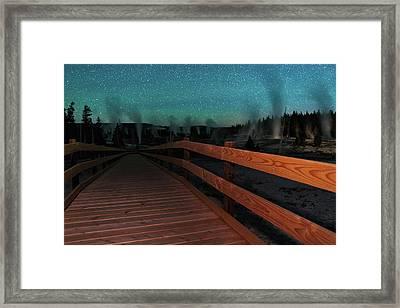 Geyser Basin Boardwalk Framed Print