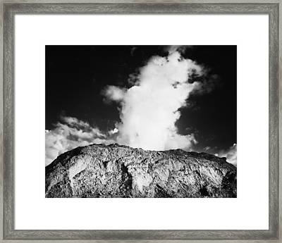 Geyser Rock Framed Print