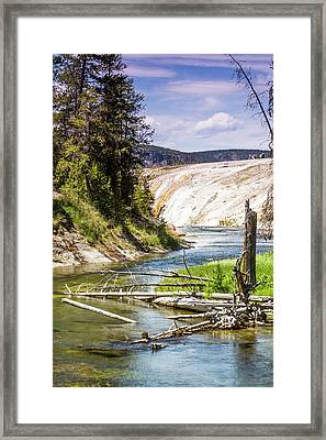 Geyser Stream Framed Print