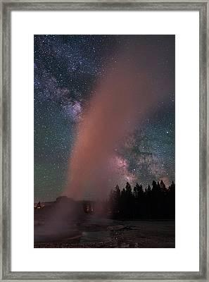 Geyser X Framed Print