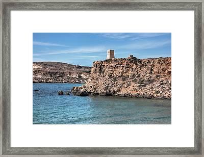 Ghajn Tuffieha Bay - Malta Framed Print by Joana Kruse