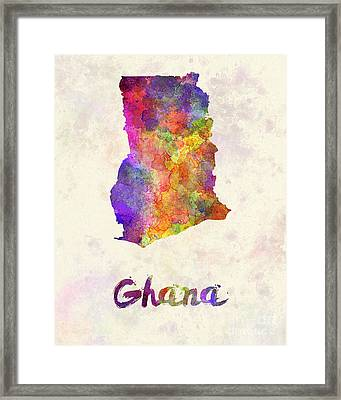 Ghana In Watercolor Framed Print by Pablo Romero