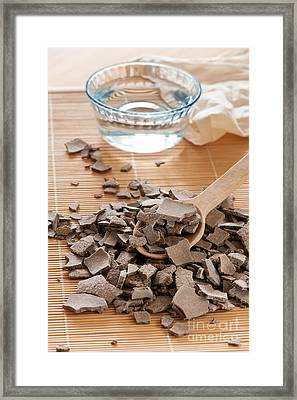 Ghassoul Lava Clay Pile Framed Print