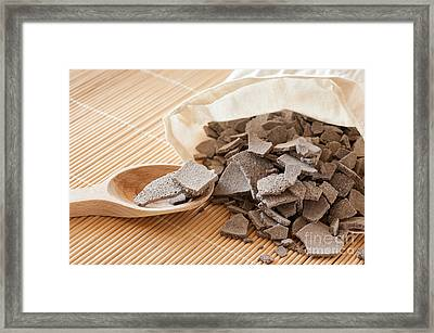 Ghassoul Moroccan Lava Clay Framed Print