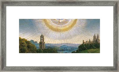 Ghent Altarpiece Detail Of The Holy Spirit Framed Print by Van Eyck