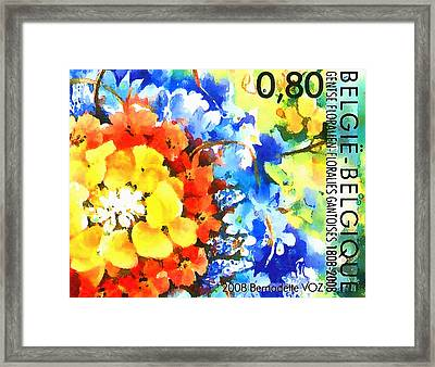Ghent Flower Show Framed Print