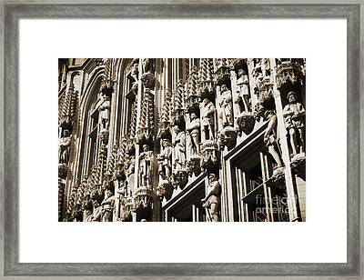 Brussels Gothic In Sepia Framed Print by Carol Groenen