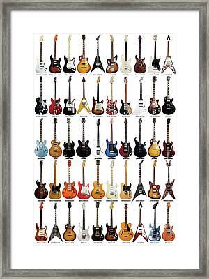Guitar Legends Framed Print by Taylan Apukovska