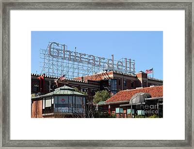 Ghirardelli Chocolate Factory San Francisco California 7d13978 Framed Print