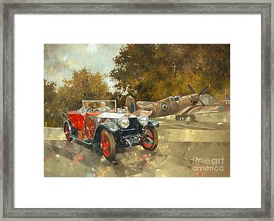 Ghost And Spitfire  Framed Print by Peter Miller