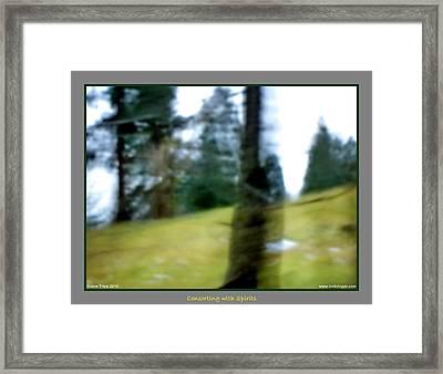 Ghost Behind Tree Framed Print by Jane Tripp