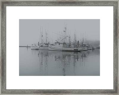 Ghost Boats Framed Print by Jean Noren