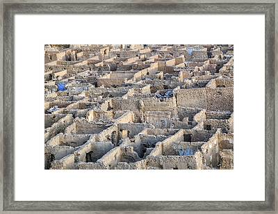 ghost city Umm el Howeitat - Egypt Framed Print