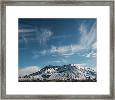 Ghost Clouds Framed Print