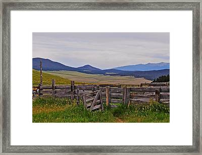 Ghost Corral Framed Print by Michael Knight