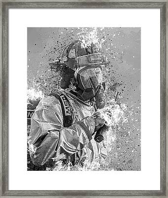 Ghost Flames Framed Print