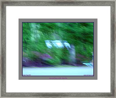 Ghost Hanging Out Washing Framed Print by Jane Tripp