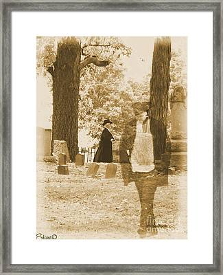 Ghost In The Graveyard Framed Print