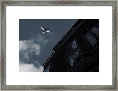 Ghost In The Window Framed Print by Celestial  Blue