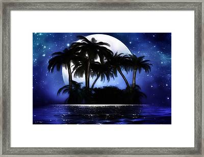 Shadow Island Framed Print