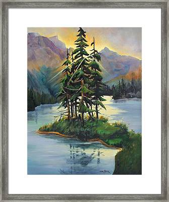 Ghost Island Near Jasper Framed Print by Marta Styk