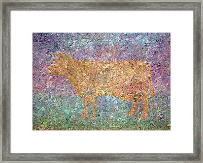 Ghost Of A Cow Framed Print by James W Johnson
