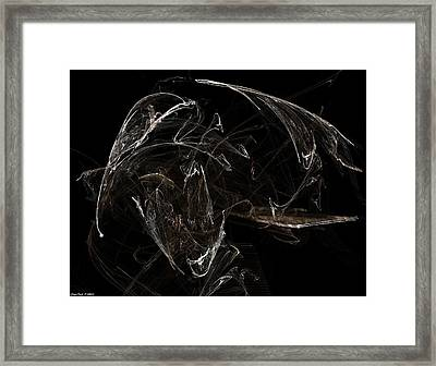 Ghost Of Buccaneer In Hat And With Sail Framed Print by Shan Peck