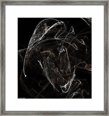 Ghost Of Buccaneer In Heat Closeup Framed Print by Shan Peck