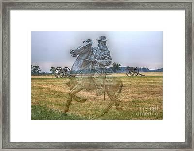 Ghost Of Gettysburg Framed Print