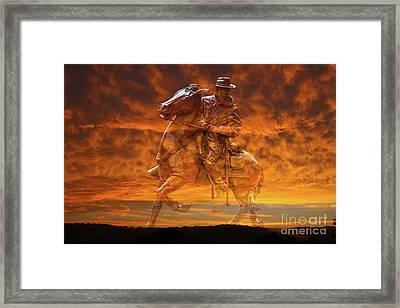 Ghost Of Gettysburg Verson Two Framed Print by Randy Steele