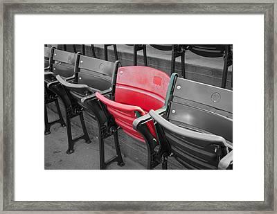 Ghost Of Ted Williams Framed Print by Joseph Maldonado