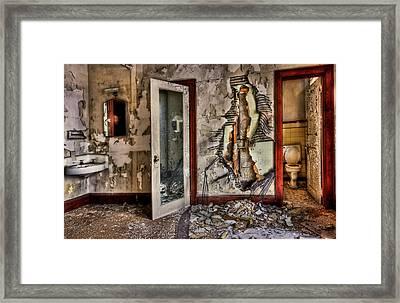 Ghost Of Time Framed Print by Evelina Kremsdorf