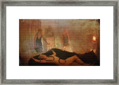 Ghost Play By Mb Framed Print