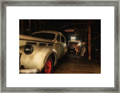 Ghost Ambulance Framed Print by Marnie Patchett