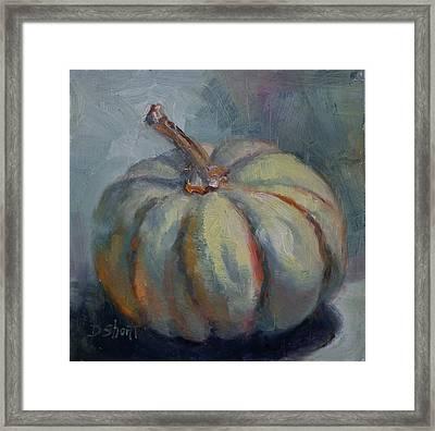 Ghost Pumpkin Framed Print by Donna Shortt