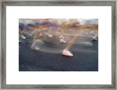 Ghost Race Framed Print