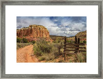 Ghost Ranch Back Country Framed Print by Jack Zievis